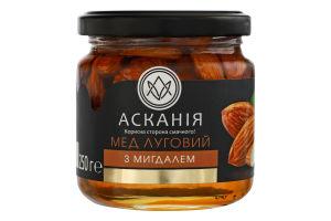 Мед натуральный цветочный луговой с миндалем Асканія с/б 250г