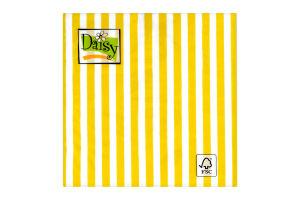 Салфетки Daisy с рисунком бумажная 3-слойная D-30
