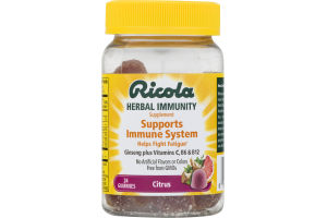 Ricola Herbal Immunity Supplement Supports Immune System Gummies Citrus - 24 CT