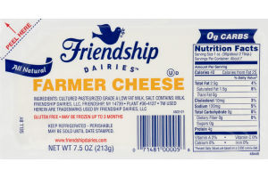 Friendship Dairies All Natural Farmer Cheese