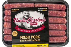 Uncle Charley's Sausage Co. Premium Small Fresh Pork Breakfast Sausage