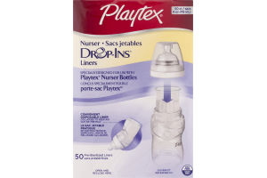 Playtex Nurser Drop-Ins Liners- 50 CT