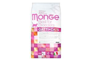 Корм сухой с курицей для для котят Kitten 1-12 months Natural Superpremium Monge м/у 10кг