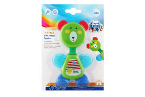 Погремушка для детей от 0мес с водным прорезывателем №56/139 Мишка Canpol babies 1шт