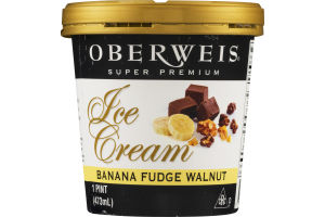 Oberweis Super Premium Ice Cream Banana Fudge Walnut