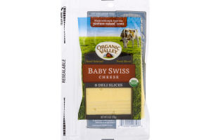 Organic Valley Baby Swiss Cheese Slices - 8 CT