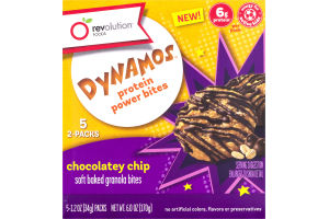 Revolution Foods Dynamos Protein Power Bites Chocolatey Chip - 5 PK
