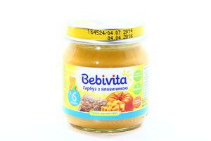 Пюре для детей от 6мес Тыква с говядиной Bebivita с/б 100г