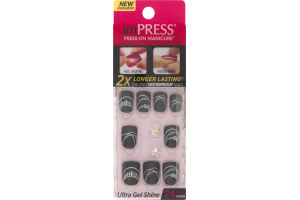 ImPress PRESS-On Manicure Ultra Gel Shine Gel Nails Dancing Queen - 24 CT