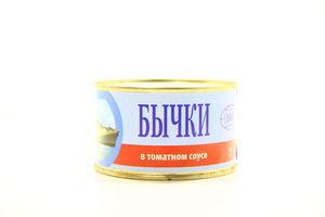 Бычки в томатном соусе ИРФ 230 гр/36 шт