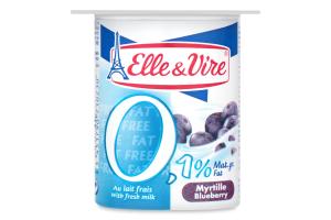 Десерт молочный 0.1% с черникой Elle&Vire ст 125г