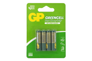 Батарейки AAA R03 №GP25G-UE4 Greencell GP 4шт