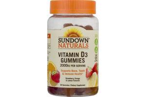 Sundown Naturals Vitamin D3 Gummies 2000 IU - 90 CT