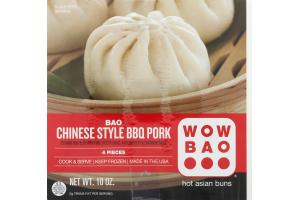 Wow Bao Hot Asian Buns Bao Chinese Style BBQ Pork - 4 CT