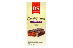 Торт вафельний глазурований Варена згущенка Crispy cake Домашнє Свято к/у 200г