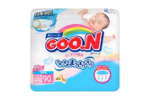 Підгузники Goo.N для немовлят до 5 кг розмір SS на липучках унісекс 753706