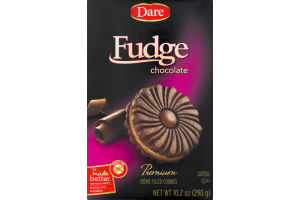 Dare Creme Filled Cookies Fudge Chocolate