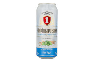 Пиво специальное 0.5л безалкогольное светлое нефильтрованное пастеризованное Перша приватна броварня ж/б