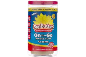 SunButter Sunflower Spread On the Go Single Cups Creamy - 6 CT