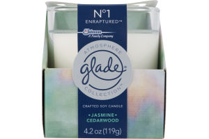 Glade Atmosphere Collection Crafted Soy Candle Jasmine Cedarwood