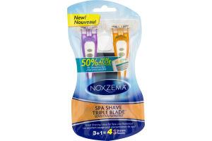 Noxzema Spa Shave Triple Blade Sensitive Razors - 4 CT