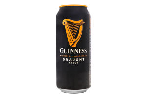 Пиво 0.44л 4.1% темне Guinness Draught з/б