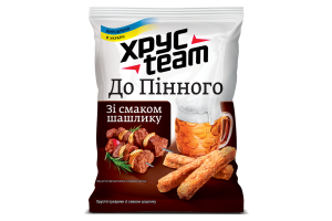 Сухарики хрусткі зі смаком шашлику Хрусteam м/у 70г