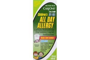 CareOne Children's All Day Allergy Bubble Gum Flavored