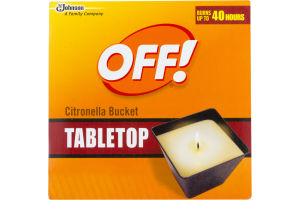 OFF! Tabletop Citronella Bucket
