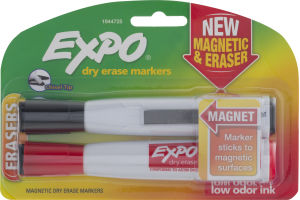 Expo Dry Erase Markers Magnetic & Eraser - 2 CT