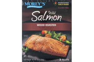 Morey's Wild Salmon Fillets Wood Roasted - 2 CT