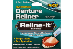 Reline-It Zinc Free Denture Reliner - 2 CT