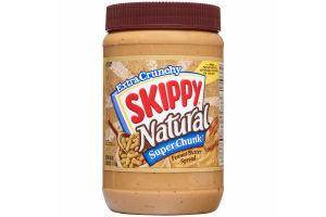 Skippy Natural Super Chunk Peanut Butter Spread, 40 Ounce