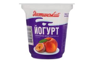 Йогурт 2.1% Персик-сік маракуйї Яготинський ст 280г
