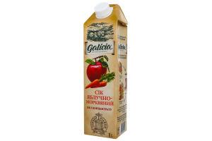 Сік яблучно-морквяний з м'якоттю Galicia т/п 1л