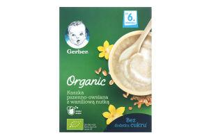 Каша безмолочна суха швидкорозчинна пшенично-вівсяна з ванільним смаком для дітей від 6міс Organic Gerber к/у 240г