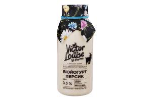 Биойогурт 3.5% из козьего молока Персик Victor et Louise с/бут 300г