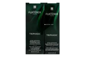 Набор для ухода за волосами Двойная защита от выпадения волос Triphasic Rene Furterer 1шт