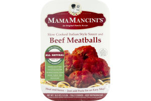 Mama Mancini's Slow Cooked Italian Style Sauce and Beef Meatballs