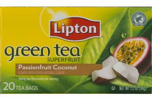 Lipton Green Tea Superfruit Tea Bags Passionfruit Coconut - 20 CT