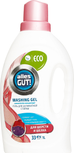 Гель для прання речей з вовни та шовку з ланоліном ECO Alles GUT! 1л