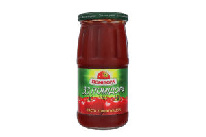 Паста томатная 25% 33 Помидора Помідора с/б 460г