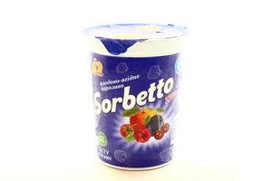 Мороженое Мушкетер Sorbetto плодово-ягодное стак 270г