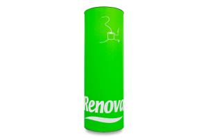 Туалетний папір 3-х шаровий зелений Renova 3 шт