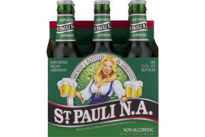 St Pauli N.A. Non-Alcoholic Malt Beverage - 6 PK