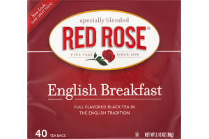 Red Rose Full Flavored Black Tea English Breakfast - 40 CT