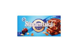 Шоколад Studentska шок-ка изюм+арах 180 г