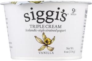 Siggi's Triple Cream Icelandic-Style Strained Yogurt Vanilla