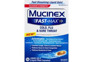 Mucinex Fast-Max Cold, Flu & Sore Throat Maximum Strength - 16 CT