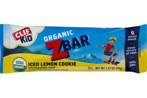 Clif Kid Z Bar Baked Whole Grain Energy Snack Iced Lemon Cookie